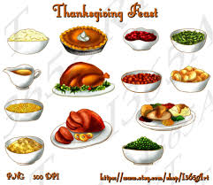 thanksgiving feast clipart thanksgiving table meal pencil and in