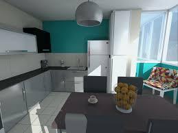 cuisine bleue et blanche meuble cuisine bleu luxe best cuisine blanche mur bleu canard