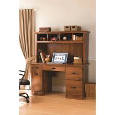 sauder palladia executive desk in vintage oak choice with regard to oak desk with hutch renovation