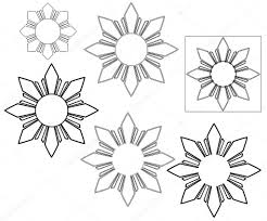 philippine sun black and white stock vector kartas 105344510