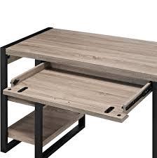urban blend 60 inch computer storage desk driftwood black by