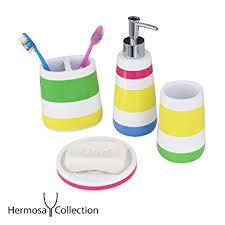 amazon com hermosa collection four piece kids bathroom