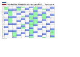 Kalender 2018 Feiertage Mv Schulkreis De Schulferien Kalender Mecklenburg Vorpommern Mv 2018