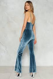 blue velvet jumpsuit get velvet jumpsuit shop clothes at gal