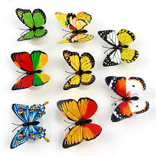 flashing night light bulbs for wedding baby room colorful butterfly with double sided adhesive