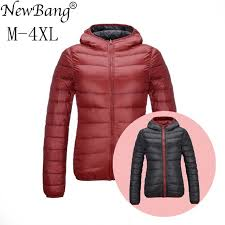 ultra light down jacket in a bag newbang duck coats women feather hooded ultra light down jacket with
