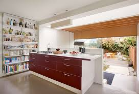 Split Level Kitchen Ideas Split Level Kitchen With Steps Down To A Dining Area And Garden