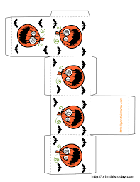 Free Printable Halloween Treat Boxes Templates