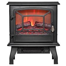 akdy 17 in freestanding electric fireplace stove heater in black
