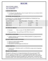 resume format for freshers engineers information technology resume for freshers fiveoutsiders com