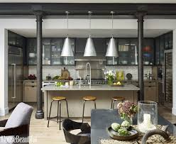 kitchens interior design this industrial style kitchen masters mixed materials drywall