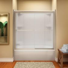 frosted glass interior doors home depot sterling finesse 59 5 8 in x 55 3 4 in semi frameless sliding