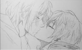 rinharu kiss sketch by rin rose art on deviantart