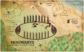 Map Of Harry Potter World by Hogwarts U2013 Ground U0026 First Floor Map Cat