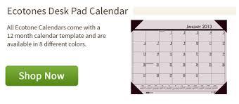 recycled desk pad calendar eco friendly calendars dolphin blue