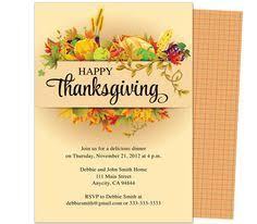 thanksgiving invitation template best template collection