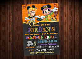 mickey mouse halloween invitations halloween party invitations