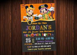 Halloween Party Invitations Ideas by Mickey Mouse Halloween Invitations Halloween Party Invitations