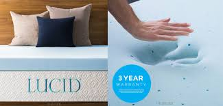 lucid 3 inch gel memory foam mattress topper review