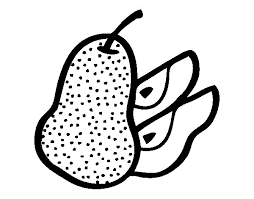 Pear Cut Coloring Page Coloringcrew Com Cut Coloring Pages