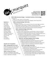 Industrial Design Resume Resume Contact U2014 Jack Marquez Industrial Designer