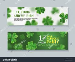 collection banners st patricks day banners stock vector 584065507