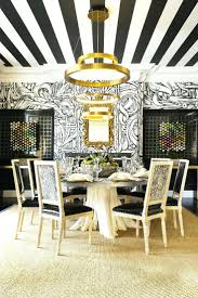 appealing dining room by marianne simon design lookbook dark 137 excellent trends striped ceiling graphic wallpaper and modern light fixture above traditional dining table and