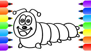caterpillar coloring page how to draw caterpillar youtube