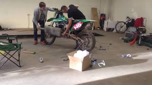 how to open a kawasaki kx250f front sprocket nut if you don u0027t have