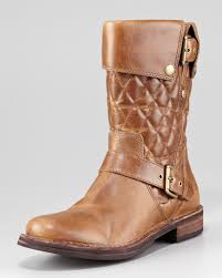 ugg womens quilted boots lyst ugg connor quilted flat boot in brown