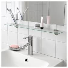 Bathroom Shelve Kalkgrund Glass Shelf Ikea