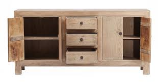 credenza sideboard cabinet with drawers natural reclaimed wood
