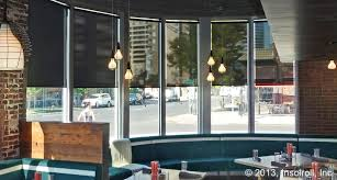 restaurant window shades insolroll