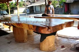wood dining table from indonesia