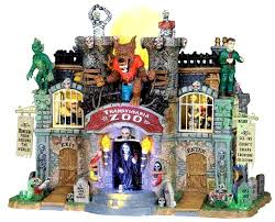 spooky town lemax 05041 transylvania zoo spooky town animated building bcg