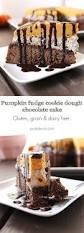 pumpkin fudge cookie dough plantain chocolate cake