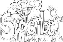 September Coloring Pages Precious September Coloring Pages Coloring Pages For September