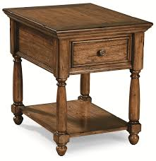 peters revington briarwood end table with drawer u0026 shelf wayside