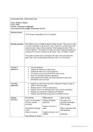 information gap lesson plan worksheet free esl printable