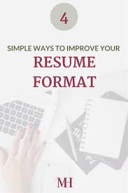 Resume Format For Jobs In Singapore by The 25 Best Resume Format For Freshers Ideas On Pinterest