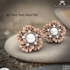store stud earrings diamond stud earrings in caratstyle online jewellery shopping
