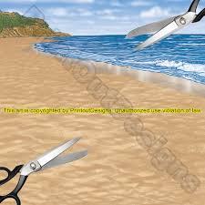 printable scrapbook paper beach scenes digital download water