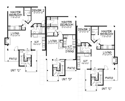 gaillard stylish sixplex plan 072d 0219 house plans and more
