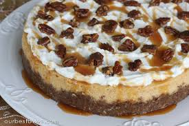 pumpkin cheesecake with pecan gingersnap crust our best bites