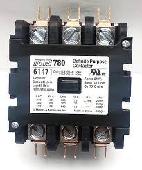 mars 61471 780 contactor 3p 60a 120v box lug term motor