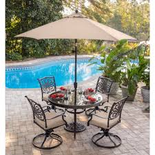 Patio Set Umbrella Delightful Outdoor Patio Furniture Near Swimming Pool Feat Metal