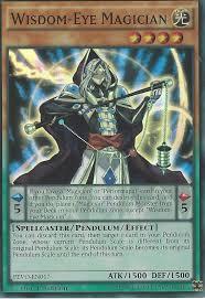 yu gi oh card wisdom eye magician super rare pevo en017 1st