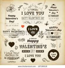 Valentine S Day Decor Sale by Set Happy Valentines Day Labels Ornaments Stock Vector 167186519