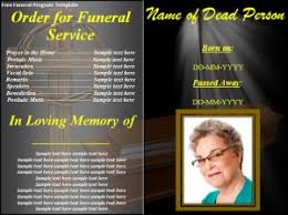 Funeral Program Covers Free Funeral Program Template Word Excel Pdf