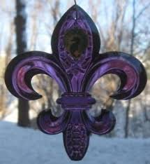 waterford purple amethyst fleur de lis lys